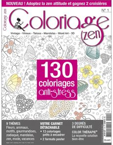 Coloriage Zen n°1 - 130 coloriages anti-stress