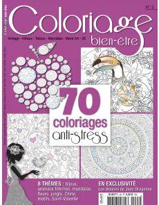 Coloriage bien-être n°2 - 70 coloriages anti-stress - Format voyage