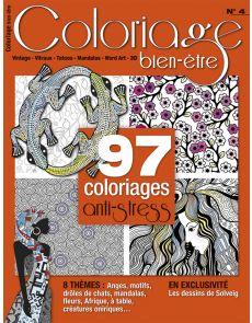 Coloriage bien-être n°4 - 97 coloriages anti-stress - Format voyage