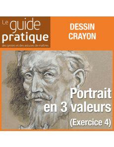 Exercice 4 : un portrait en 3 valeurs aux crayons, craies noires et blanches - Guide Pratique Numérique