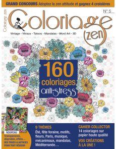 Coloriage Zen n°5 - 160 coloriages anti-stress + supplément DIY spécial été