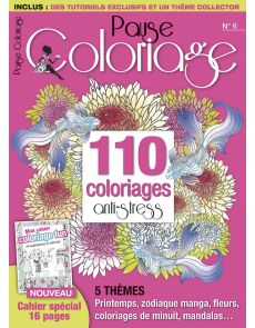 Pause Coloriage n°6 - 110 coloriages anti-stress