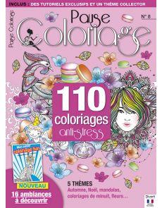 Pause Coloriage 8 + Mon cahier coloriage FUN, 16 ambiances à colorier