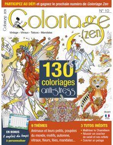 Coloriage Zen n°10 - Vintage, vitraux, tatoos, mandalas