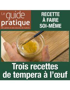 Trois recettes de tempera à l'œuf - Guide Pratique Numérique