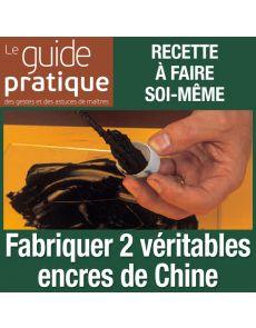 Fabriquer deux véritables encres de Chine - Guide Pratique Numérique