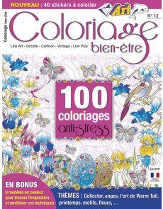 Coloriage bien-être 12 - Thèmes Anges, Printemps, Motifs, Fleurs…