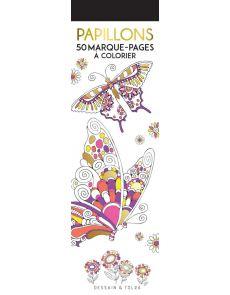 Papillons - 50 marque-pages à colorier - Dessain et Tolra