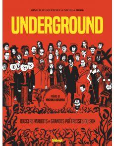 BD Underground - Rockers maudits & Grandes prêtresses du son - Arnaud Le Gouëfflec, Nicolas Moog, Michka Assayas (Préfacier)