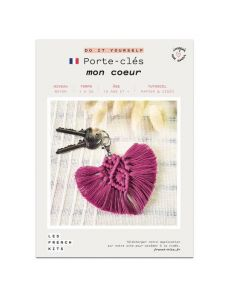 Kit Macramé Porte clés - Cœur - French Kits