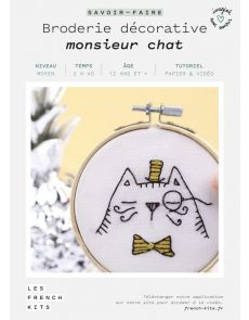 Kit Broderie Monsieur Chat - French Kits