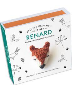 Kit Broche crochet Renard - Modèle, technique et accessoires - Juliette Michelet