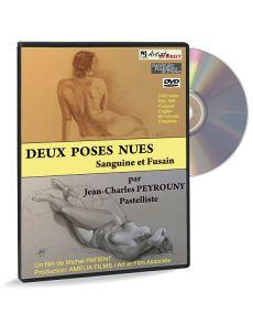 Deux poses nues sanguine et fusain par Jean-Charles Peyrouny - DVD