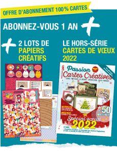 Abonnement Cartes Créatives + le spécial SKETCHES + les papiers créatifs