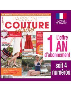 Abonnement 1 AN Passion Couture Créative