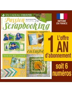 Abonnement 1 AN Passion Scrapbooking