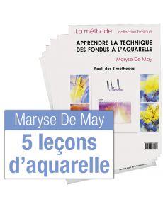 Apprendre la technique des fondus à l'aquarelle par Maryse De May