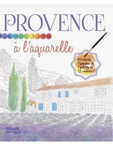 Provence à l'aquarelle - Croquis à peindre, une palette de couleurs et 1 pinceau