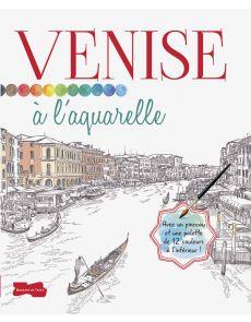 Venise à l'Aquarelle - Croquis à peindre, une palette de couleurs et 1 pinceau