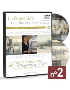 Janine Gallizia - Coffret double DVD tiré du Grand Livre de l'Aquarelle