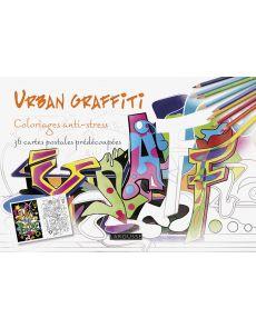 Urban graffiti - 36 cartes postales prédécoupées à colorier