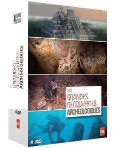 Coffret 4 DVD : Grandes découvertes archéologiques [naachtun, chauvet, atlit yam, sarcophage glacé de Mongolie]
