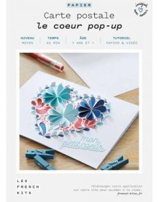 Les French'Kits - Cartes Postales - Le cœur pop-up