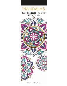 Mandalas - 50 marque-pages à colorier