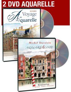 AQUARELLE : la peinture d'architecture - Coffret 2 DVD vidéo