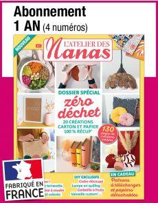 L'abonnement aux 4 prochains numéros du magazine L'ATELIER DES NANAS
