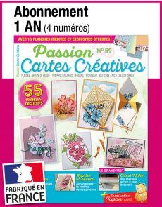 L'abonnement aux 4 prochains numéros du magazine Passion CARTES CRÉATIVES