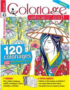 Coloriage ambiance zen n°3 - Cahier spéciale mystérieuse Asie