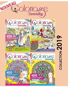 Collection complète 2019 COLORIAGE SERENITY - 4 magazines