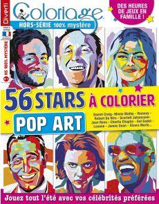 Coloriage 100% Mystère  hors-série 01 - 56 stars à colorier - Pop Art