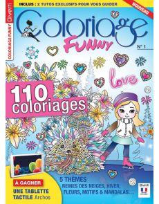 Coloriage Funny numéro 1 - Thèmes Reine des Neiges, Hiver, Fleurs, Motifs et Mandalas