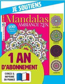 Abonnement 1 AN à Coloriage Mandalas Zen