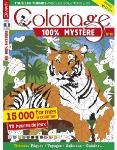Coloriage 100% Mystère 12 - 15 000 formes à colorier