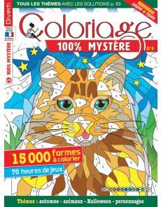 Coloriage 100% Mystère 6 - Thèmes automne, animaux, Halloween, personnages
