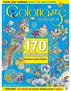 """Coloriage Sensation 11 + supplément de 32 pages spécial """"Points à relier"""""""