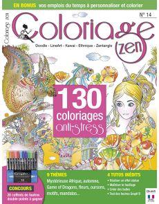 Coloriage Zen numéro 14 - Doodle, LineArt, Kawai, Ethnique, Zentangle