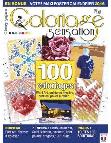 Coloriage Sensation n°5 - 100 coloriages Word Art, peintures mystère, puzzles, points à relier