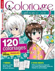 Coloriage Ambiance Zen 08 - Cahier spécial Mangas