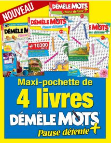 Collection 2019 DEMELE MOTS PAUSE DETENTE+ avec 4 magazines