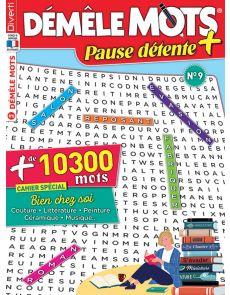 Démêle Mots Pause Détente + 9 avec les solutions