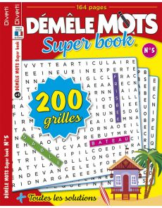 Démêle Mots Super Book 05 - Toutes les solutions incluses