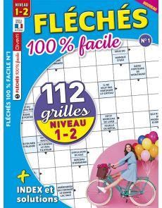 Fléchés 100 % facile 01 - 112 grilles - Niveau 1-2