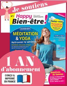 Abonnement 1 AN au magazine Happy BIEN-ÊTRE