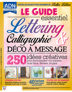 Le guide essentiel du Lettering : 40 tutos pour maîtriser la calligraphie et vos décos à message