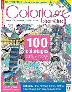 Coloriage bien-être 17 - Thèmes : été, sirènes, fleurs, motifs et mandalas...