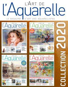 Collection 2020 complète - L'Art de l'Aquarelle : 4 numéros collectors